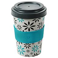 Šalica COFFEE TO GO FLOWERS 400 ml