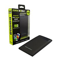 MAXMOBILE COUNT 6000 MAH DUO USB 2.4A POWER BANK CRNI