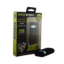 MAXMOBILE DUKE 4000 MAH POWER BANK CRNI